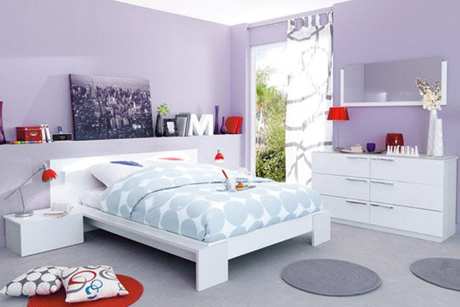 Decoraci n de habitaciones juveniles cl sicas - Dormitorio malva ...