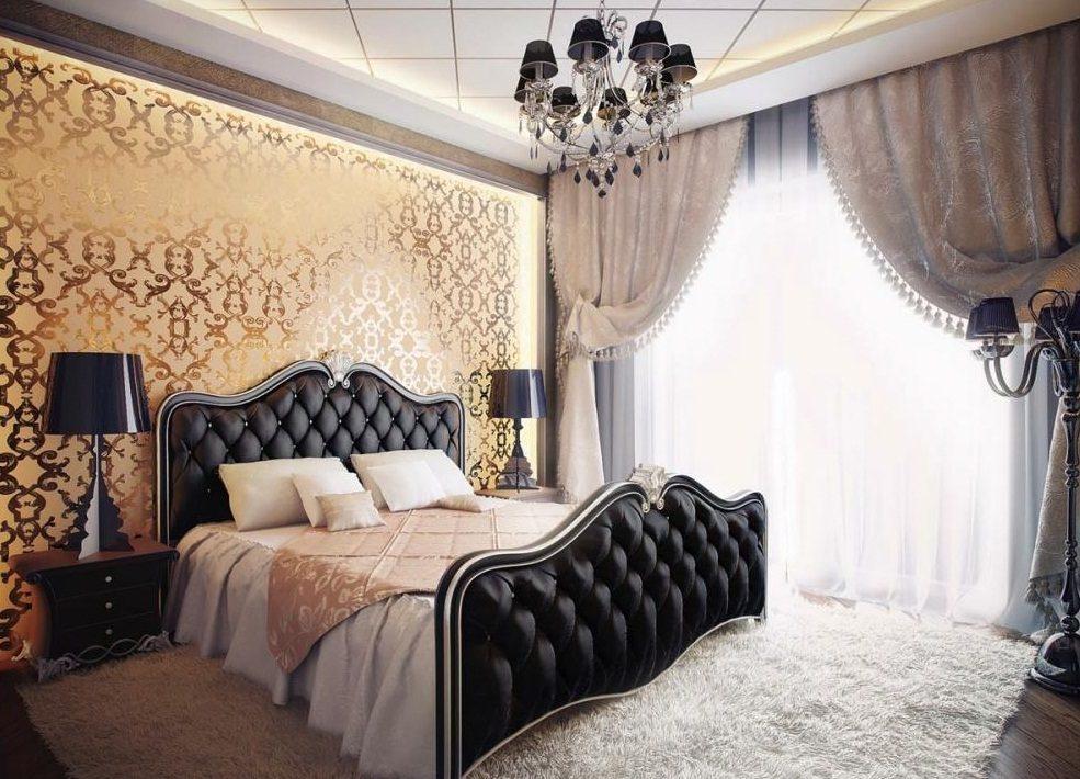Papel pintado clásico para el dormitorio de matrimonio :: Imágenes y ...