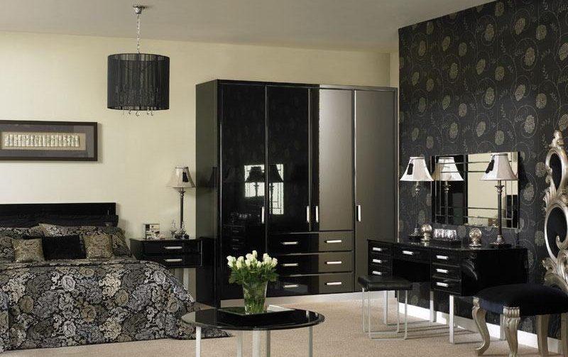 papel pintado oscuro para un interior elegante
