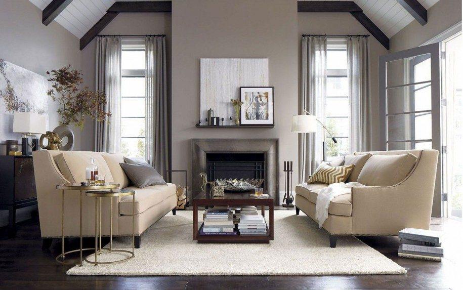 Salón atemporal en tonos beige