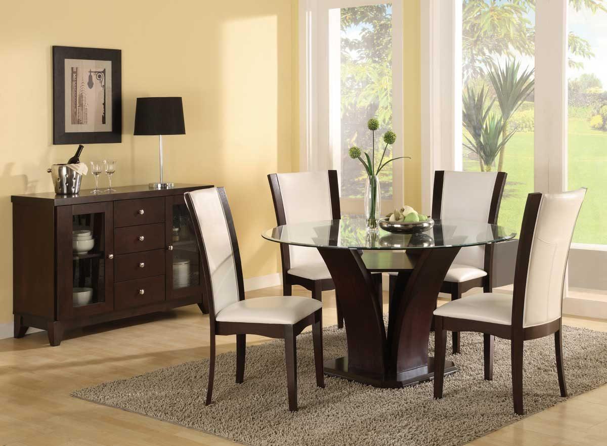 Galer a de im genes decoraci n cl sica moderna - Dining room design ideas with brave tone decoration ...