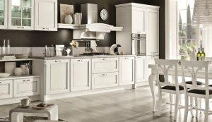Decoraci n cl sica en for Cocinas blancas clasicas