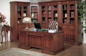 Muebles De Oficina De Madera.Decoracion De Estudios Clasicos